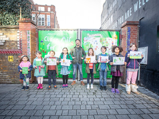 Schoolkids become Clean Air Experts and create iconic walking map