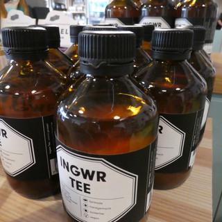 Bio Ingwerkonzentrat ungesüsst.  Für Tee und coole Drinks.