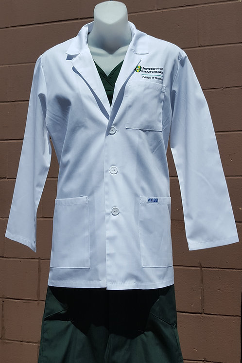 Unisex Short Lab Coat