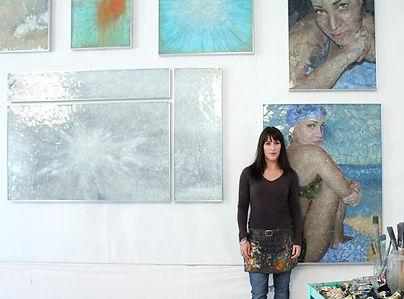 Artist Cassandria Blackmore in her studio