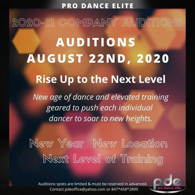 Company Auditions August 22nd - Space Limited
