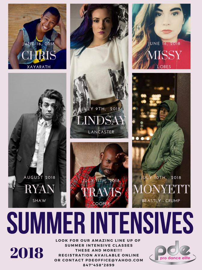 Summer Intensives & Master Classes