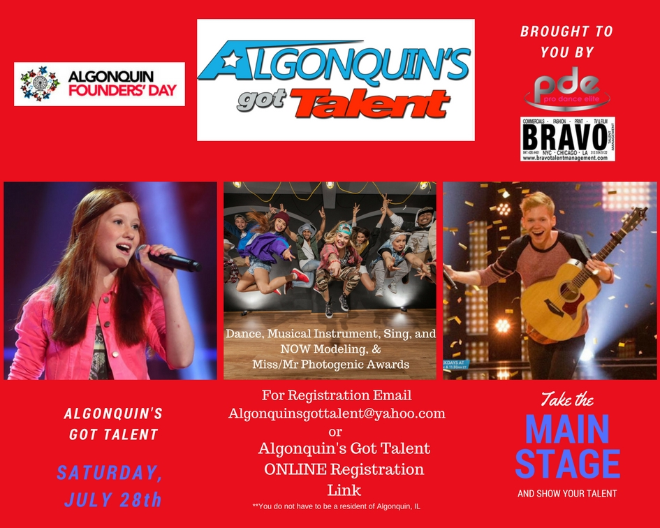 2018 Algonquin's Got Talent Flyer