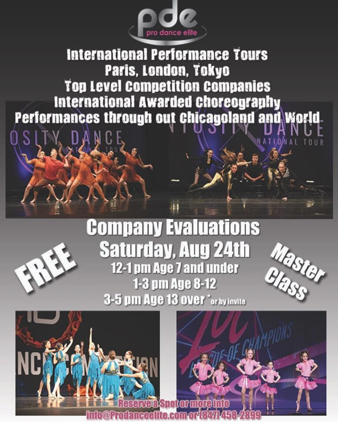 2019-2020 PDE Company Evaluations & Master Classes