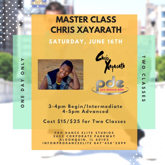 2018 pro dance elite chris xayarath master class