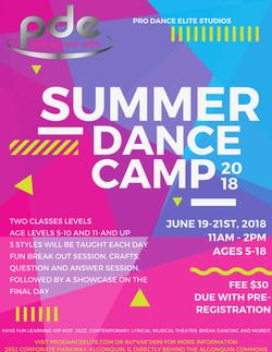 2018 pro dance elite summer dance camp