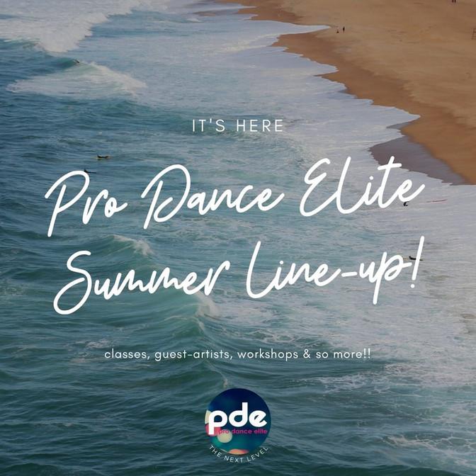 Pro Dance Elite Summer Schedule Released!!!