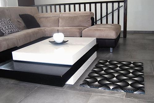 tapis black dahlia dans un salon