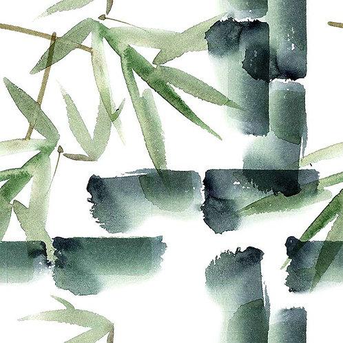 """Housse de coussin en velours """"Bambou Zen"""""""