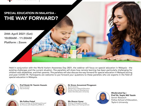 """Webinar Series on """"Special Education in Malaysia - The Way Forward?"""" Featured in the Media"""