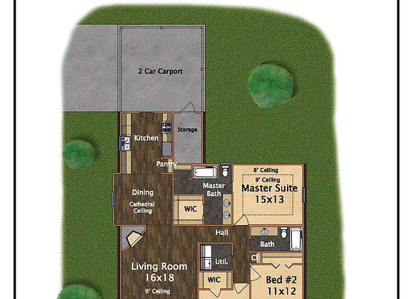 3 Bed 2 Bath 1,426 sq.ft.