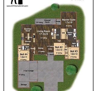 4 Bed 3 Bath 2,505 sq.ft.