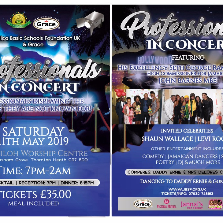JBSF UK in Association with Grace Professionals In Concert