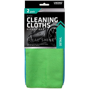 Microfiber Glass Cleaning Cloths 2pk