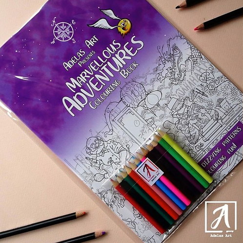 Marvellous Adventures Colouring Book
