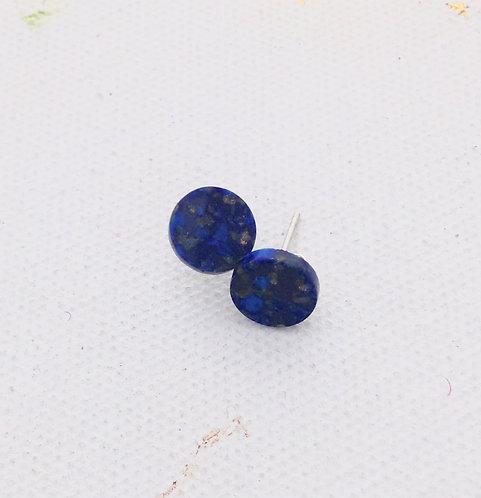 Lapis Lazuli Round Studs