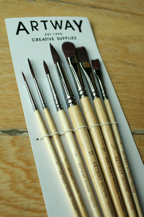 Set of 7 Brushes (Synthetic)