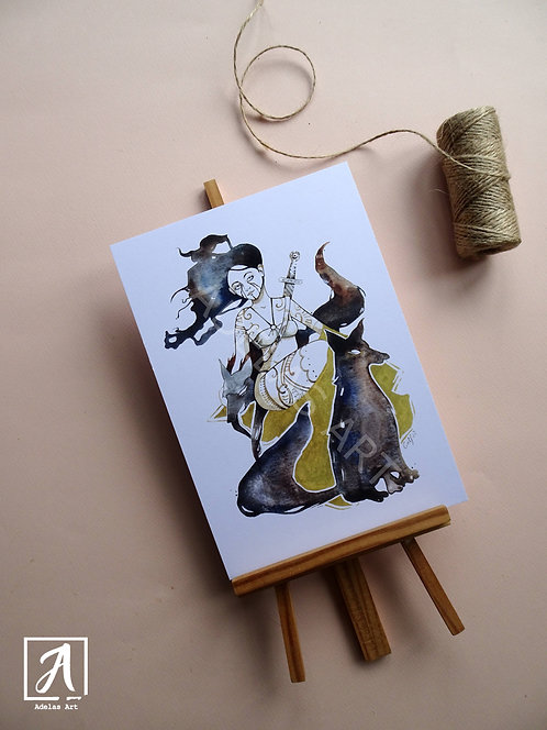 Female Warrior - A5 Print