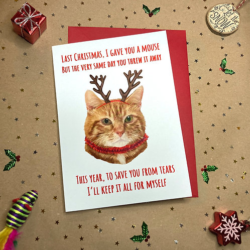 'Last Christmas' Ginger Cat Card