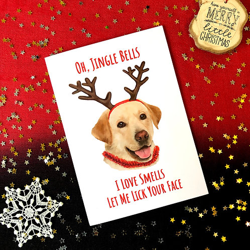 'Oh, Jingle Bells' Dog Card