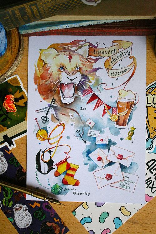 Gryffindor House Pride - A4 Print