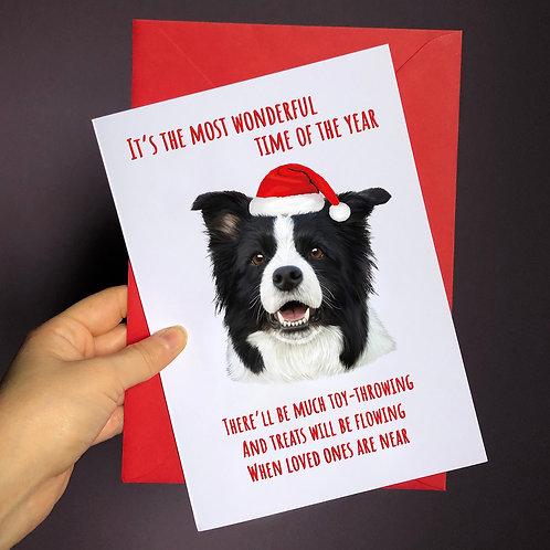 'Wonderful Time of Year' Dog Card