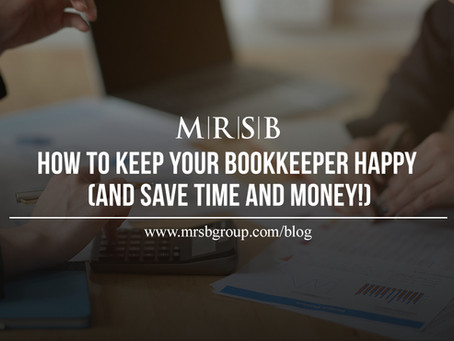 How to keep your bookkeeper happy (and save time & money!)