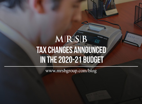 Tax changes announced in the 2020-21 budget