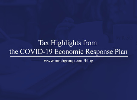 Tax Highlights from the COVID-19 Economic Response Plan