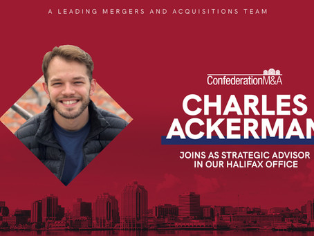 Confederation M&A welcomes Charles Ackerman
