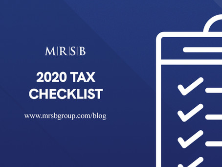 2020 Tax Checklist