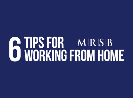 6 Tips For Working From Home