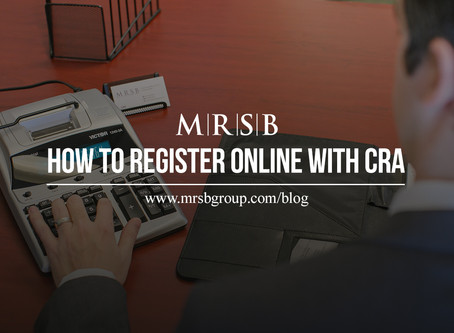 How to Register Online with CRA
