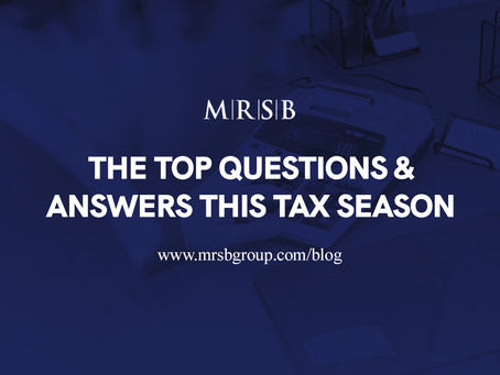 Tax Time - The top questions & answers this tax season