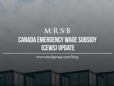 Canada Emergency Wage Subsidy (CEWS) Update