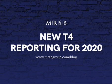 New T4 Reporting For 2020