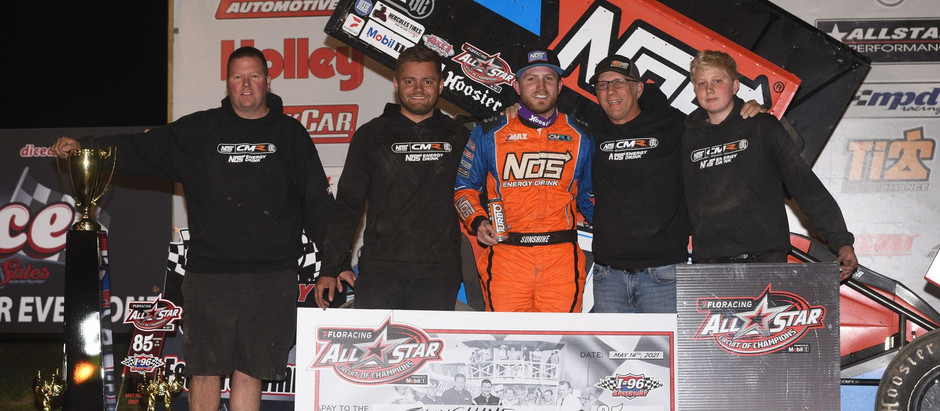TYLER COURTNEY SCORES FIRST-EVER ALL STAR VICTORY IN MACE THOMAS CLASSIC AT I-96 SPEEDWAY