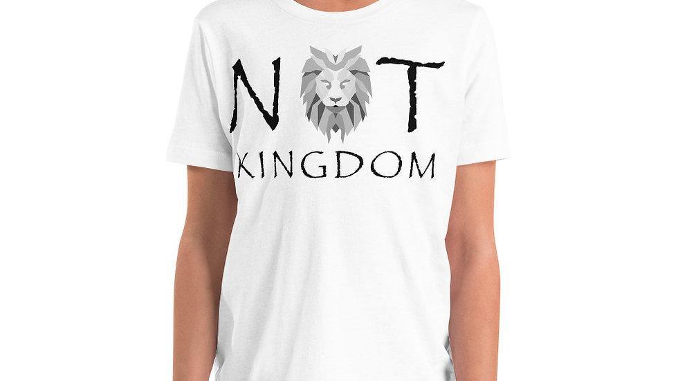 Not Kingdom Logo Youth Short Sleeve T-Shirt (Black Type)