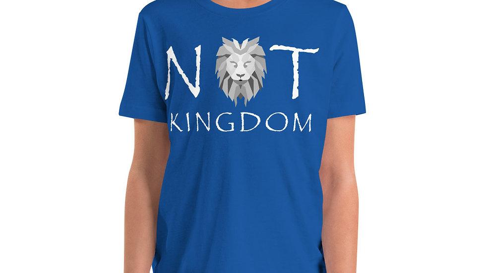 Not Kingdom Logo Youth Short Sleeve T-Shirt (White Type)