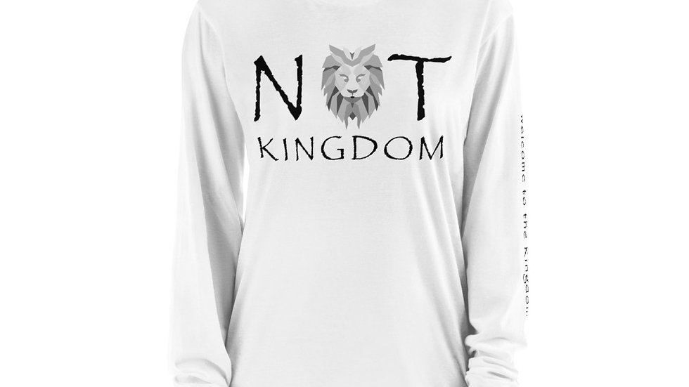 Not Kingdom Logo Long sleeve t-shirt (White)