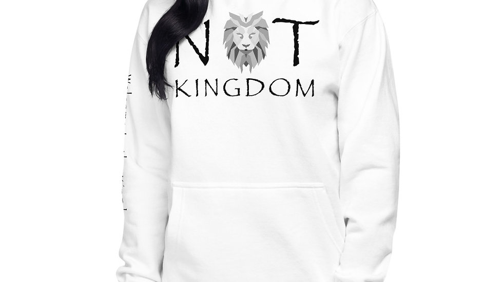 Not Kingdom Unisex Hoodie (White)