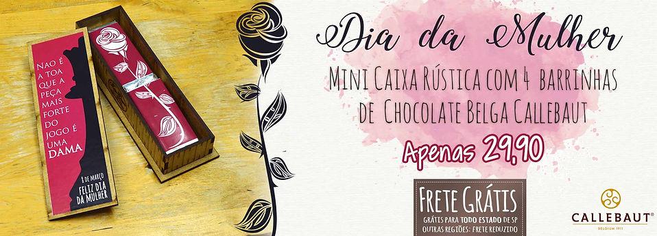 Caixa com Charuto de Chocolate para o Dia dos Pais