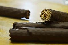Charuto de Waffle Banhado no Chocolate