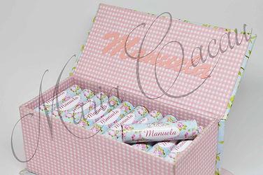 Caixa com Batom de Chocolate para Casamento