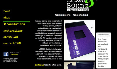Lost & Bound Bookbinders: Commissions