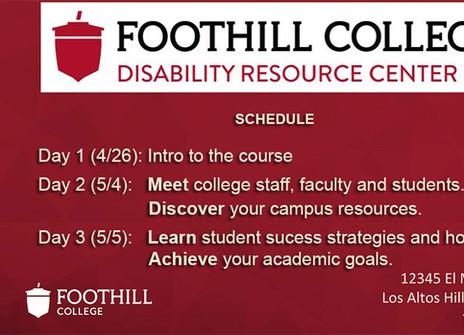 Screenshot of the schedule