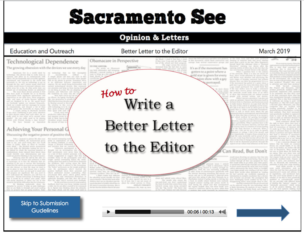 eLearning Project: How to Write a Better Letter to the Editor, Spash