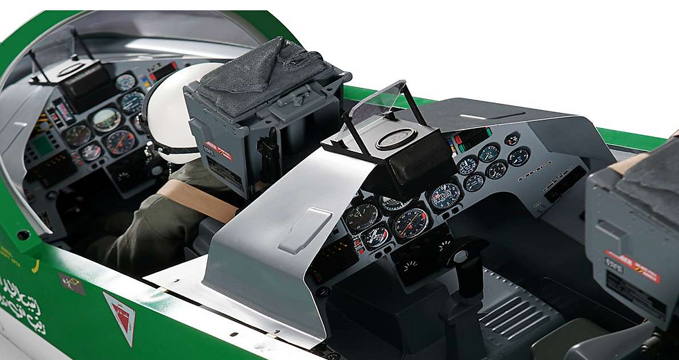 BAE Hawk Mk.66 2,7m cockpit deluxe (assembled, painted, ready for mounting)