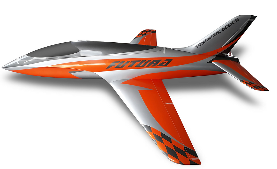 Futura 2,5 full composite kit painted type A orange /silver, Combo with Electron
