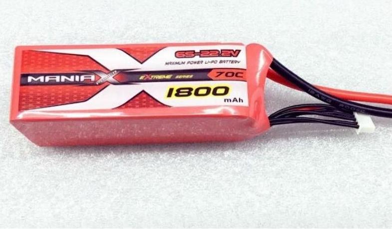 ManiaX 22.2V 1800mAh 70C Lipo Battery Pack : MX1800-6S-70
